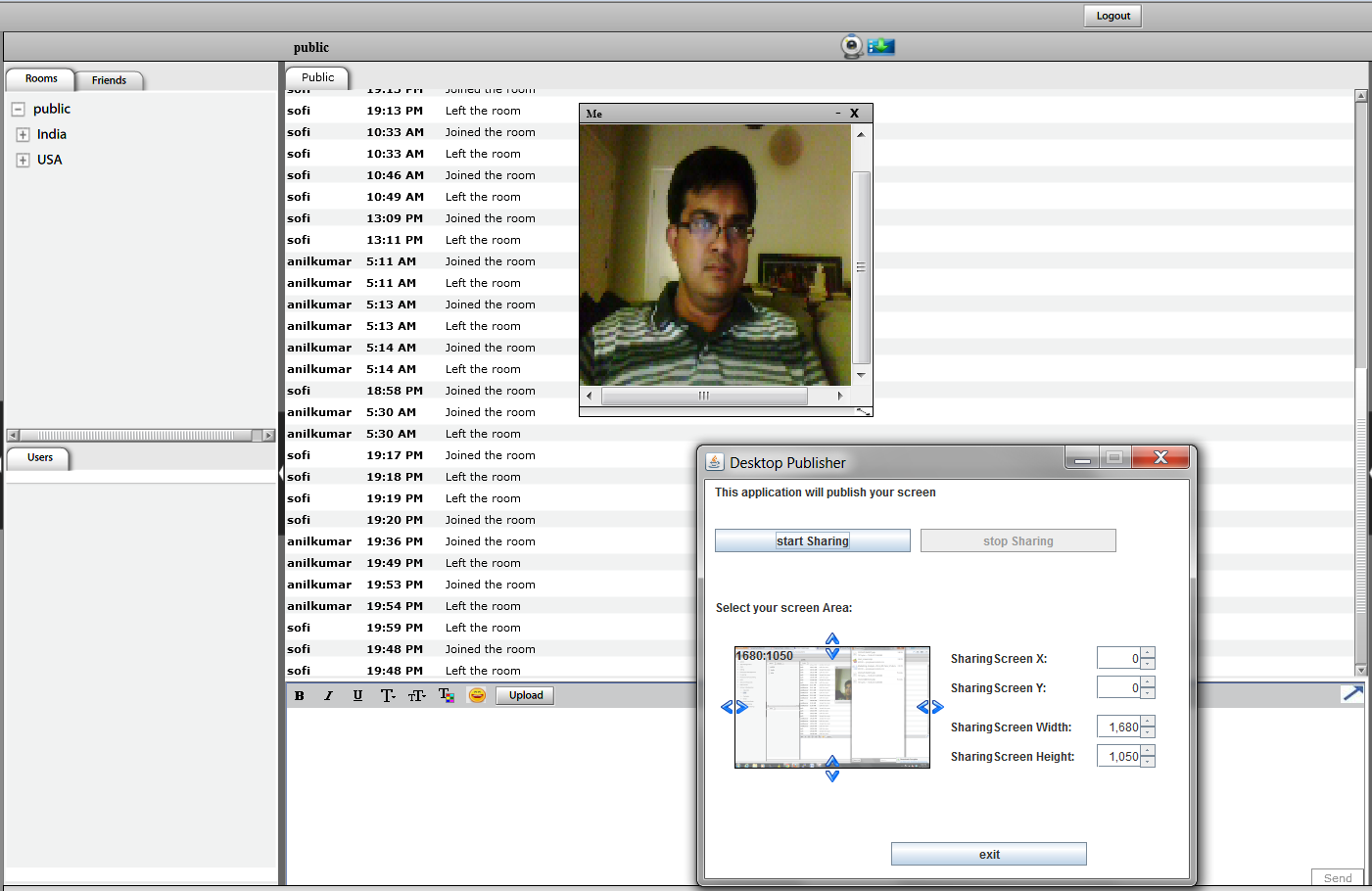 Pragmatiks  Video enabled Chat with Desktop sharing